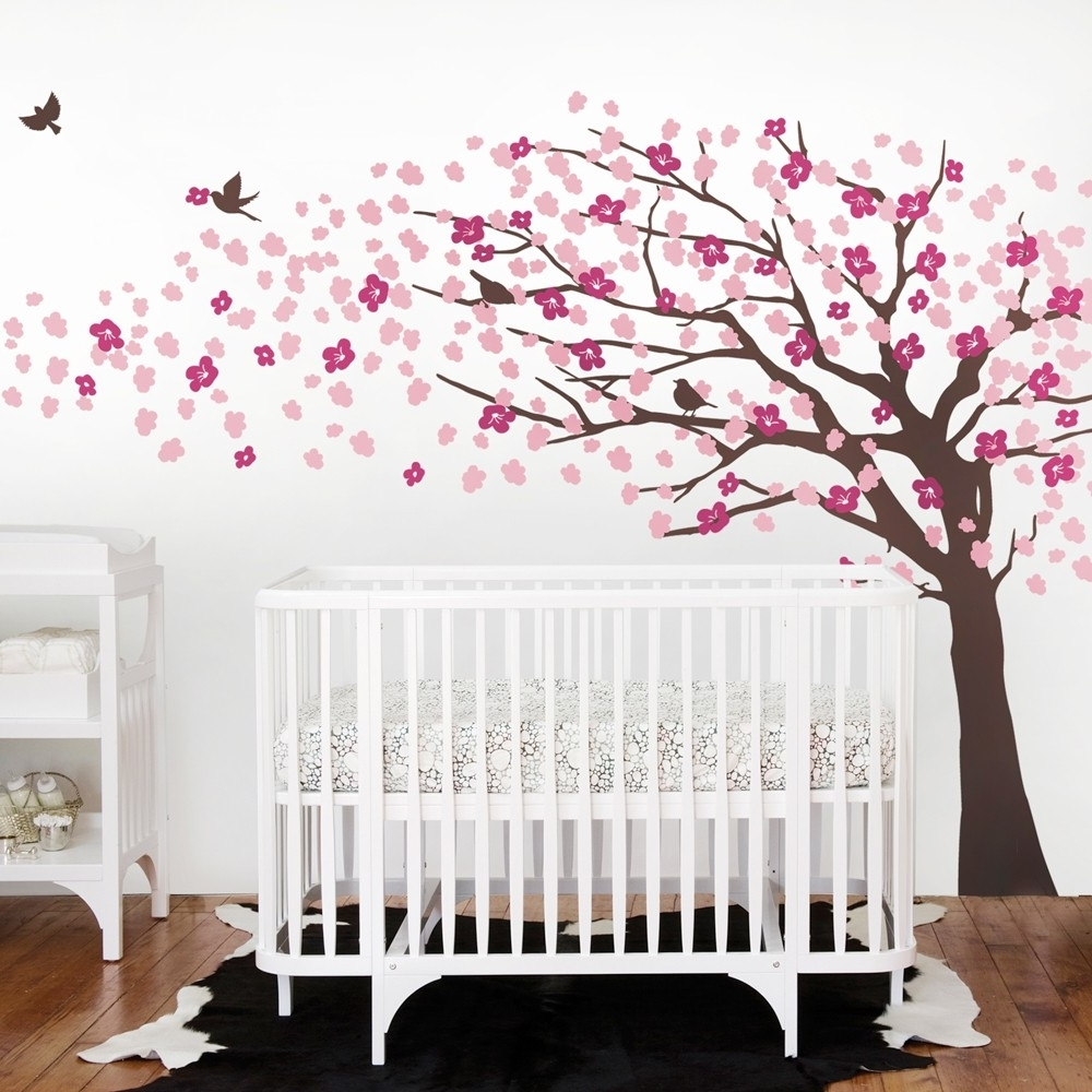 Most Current Baby Room Cherry Blossom Wall Art : Andrews Living Arts – Very With Regard To Cherry Blossom Wall Art (View 8 of 15)