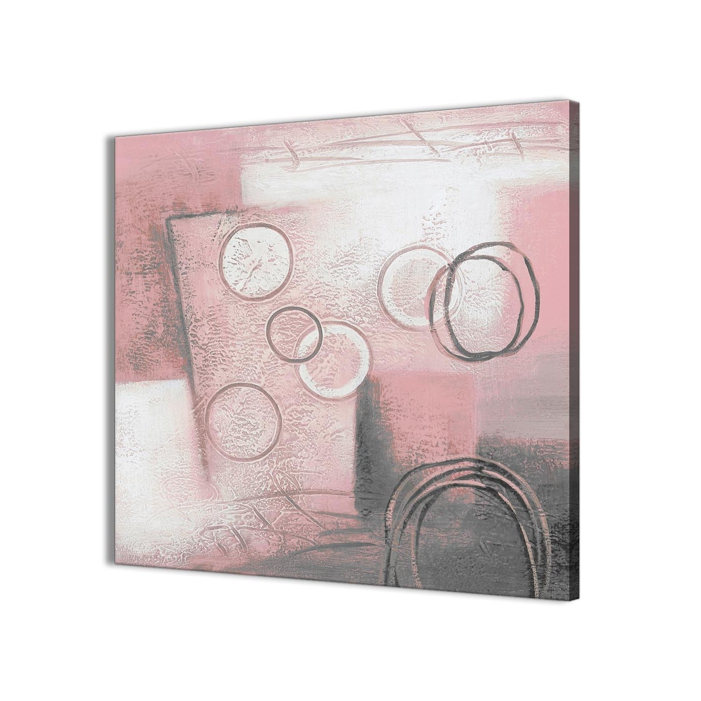 Most Current Bathroom Canvas Wall Art Pertaining To Blush Pink Grey Painting Kitchen Canvas Pictures Accessories (View 13 of 15)