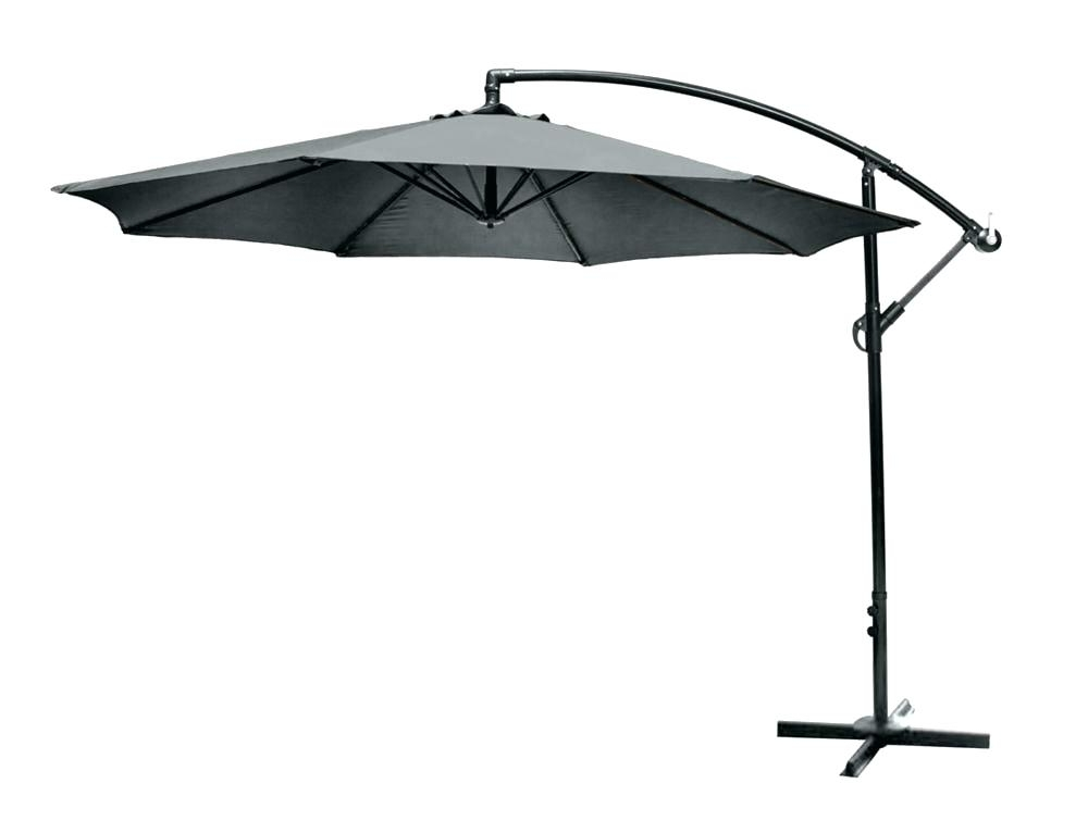 Most Current Black And White Patio Umbrella Umbrellas Accessories The Home Depot Regarding Home Depot Patio Umbrellas (View 15 of 15)