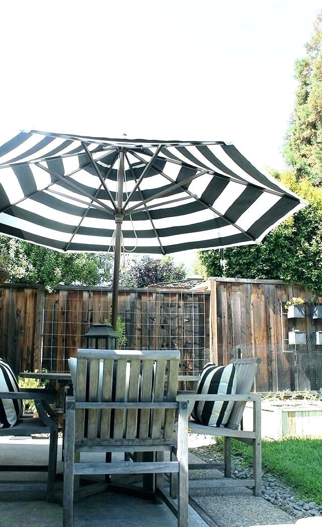 Most Current Black And White Patio Umbrellas Regarding Photos: Striped Patio Umbrella, – Longfabu (View 9 of 15)