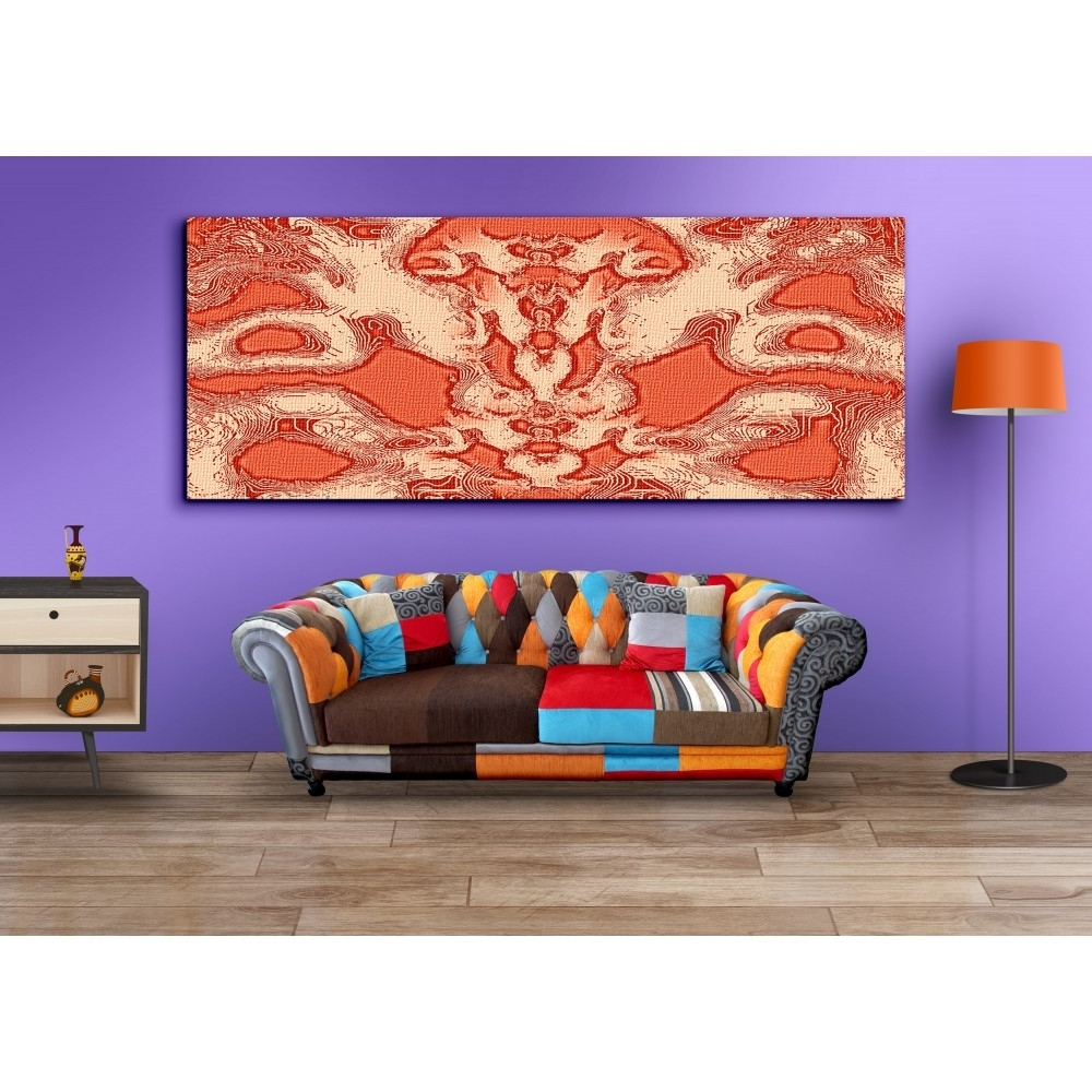 Most Current Buy Abstract Orange Wall Art For Home Decor Canvas Painting In Orange Wall Art (View 12 of 15)