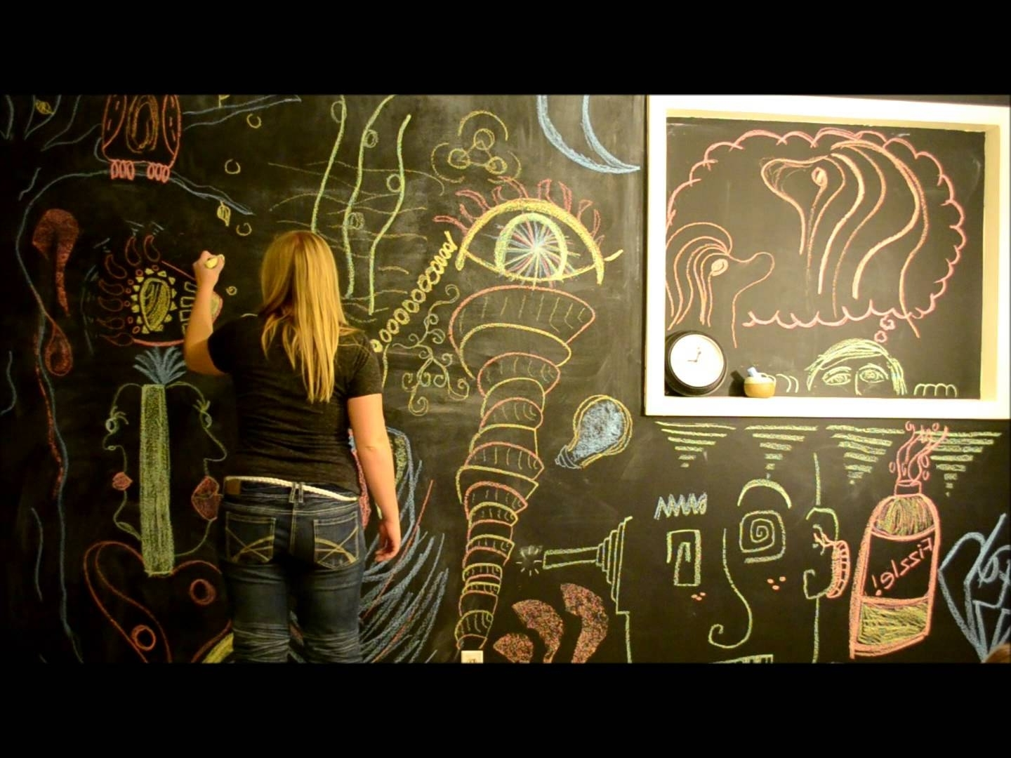 Most Current Chalkboard Wall Art Intended For Chalkboard Wall Art – Youtube (View 9 of 15)
