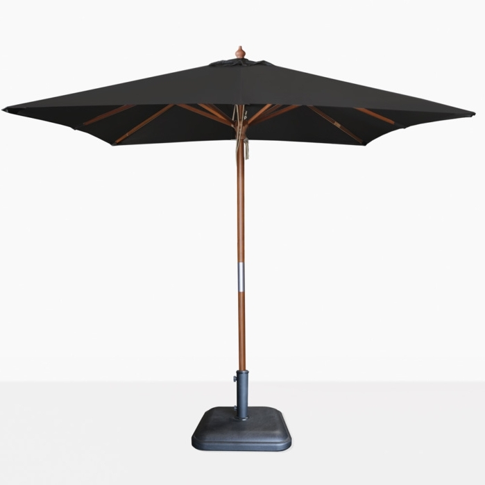 Most Current Dixon Sunbrella Square Black Patio Umbrella (View 4 of 15)
