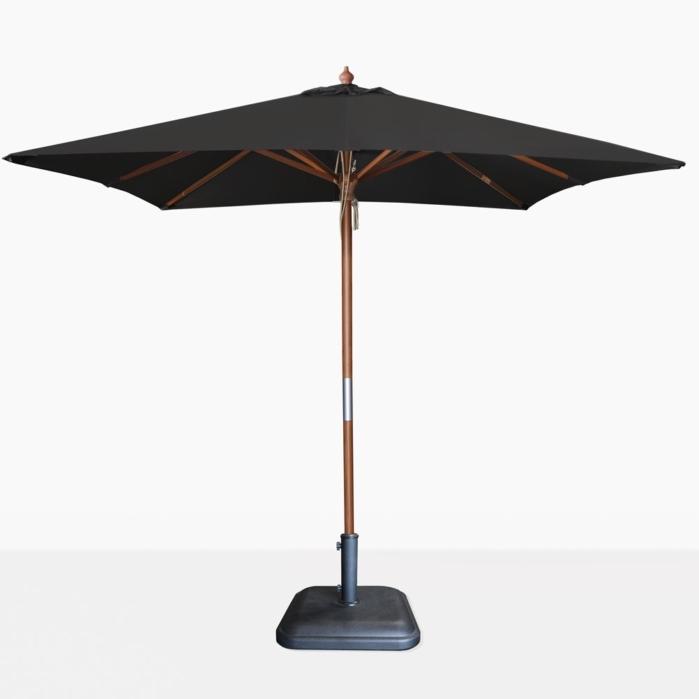 Most Current Dixon Sunbrella Square Black Patio Umbrella (View 4 of 15)