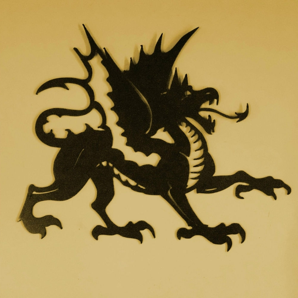 Most Current Dragon,mythology,reptile,monster,wings,metal Art,tattoo,wall Decor Within Dragon Wall Art (View 8 of 15)