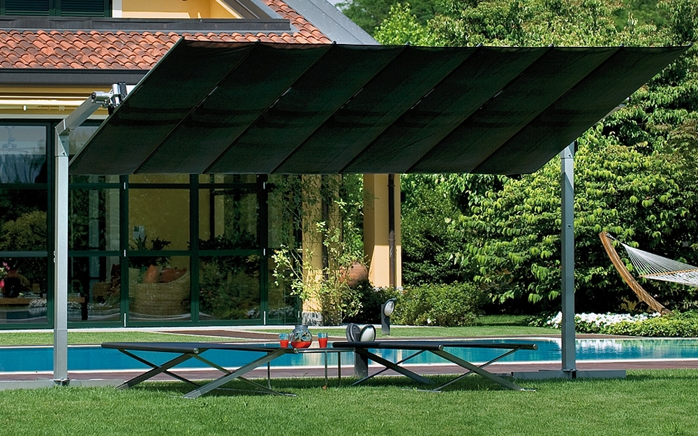Most Current Flex Offset 2 Post Umbrella In Cantilever Patio Umbrellas (View 13 of 15)