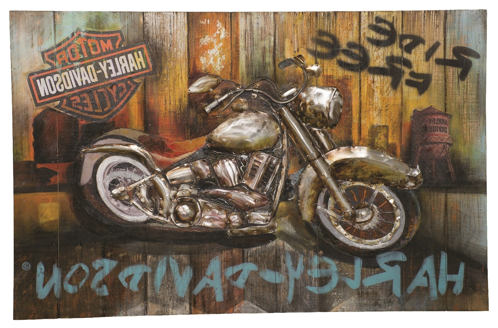 Most Current Harley Davidson Wall Art Within Harley Davidson® Ride Free Wall Art Hdl  (View 9 of 15)