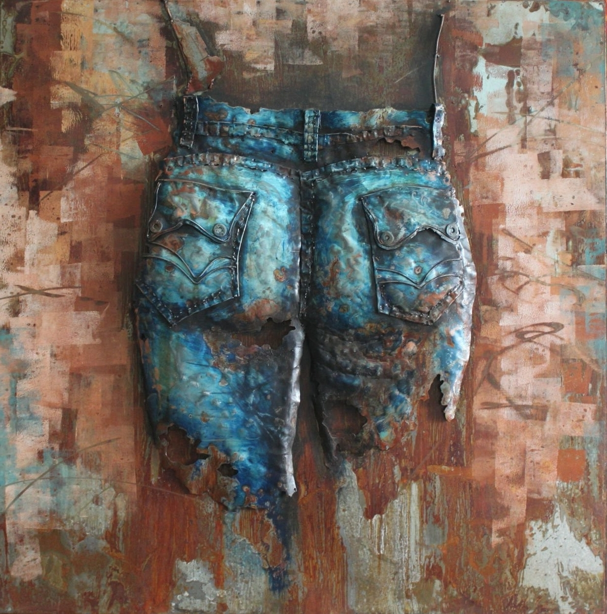 Most Current Jeans Cowgirl(Back) – 3D Metal Wall Art – Metal Wall Art Within 3D Metal Wall Art (View 5 of 15)