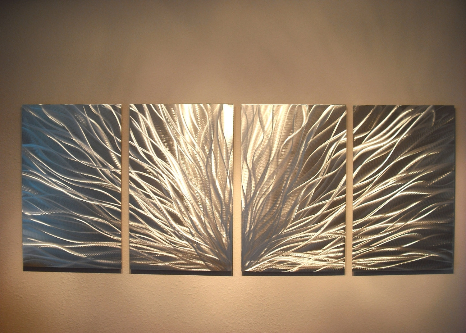 Most Current Large Metal Wall Art Within Radiance – Abstract Metal Wall Art Contemporary Modern Decor (View 8 of 15)