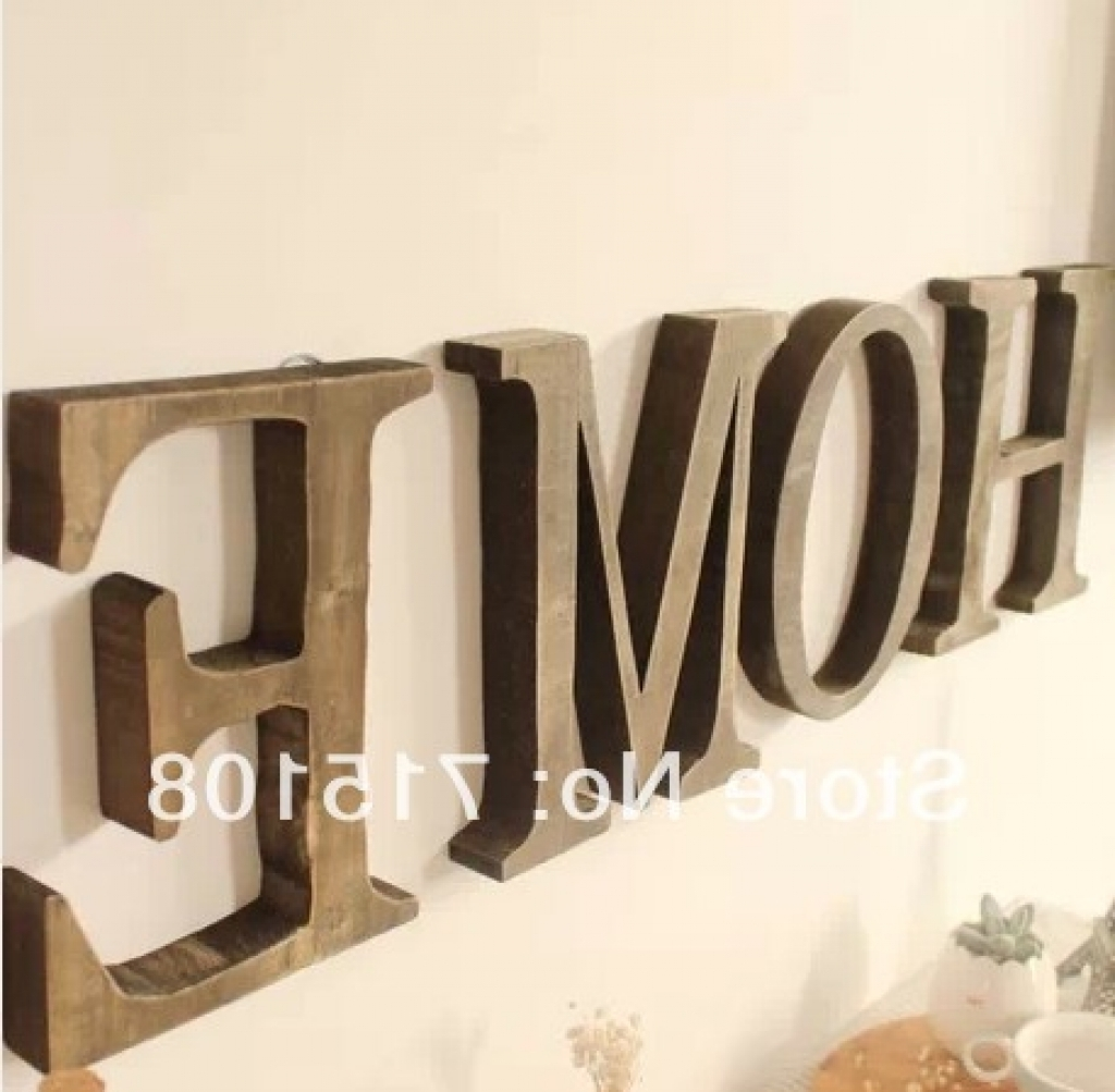 Most Current Letter Wall Art Intended For Decorative Wooden Letters For Walls Letters Wall Decor Wall Decor (View 14 of 15)