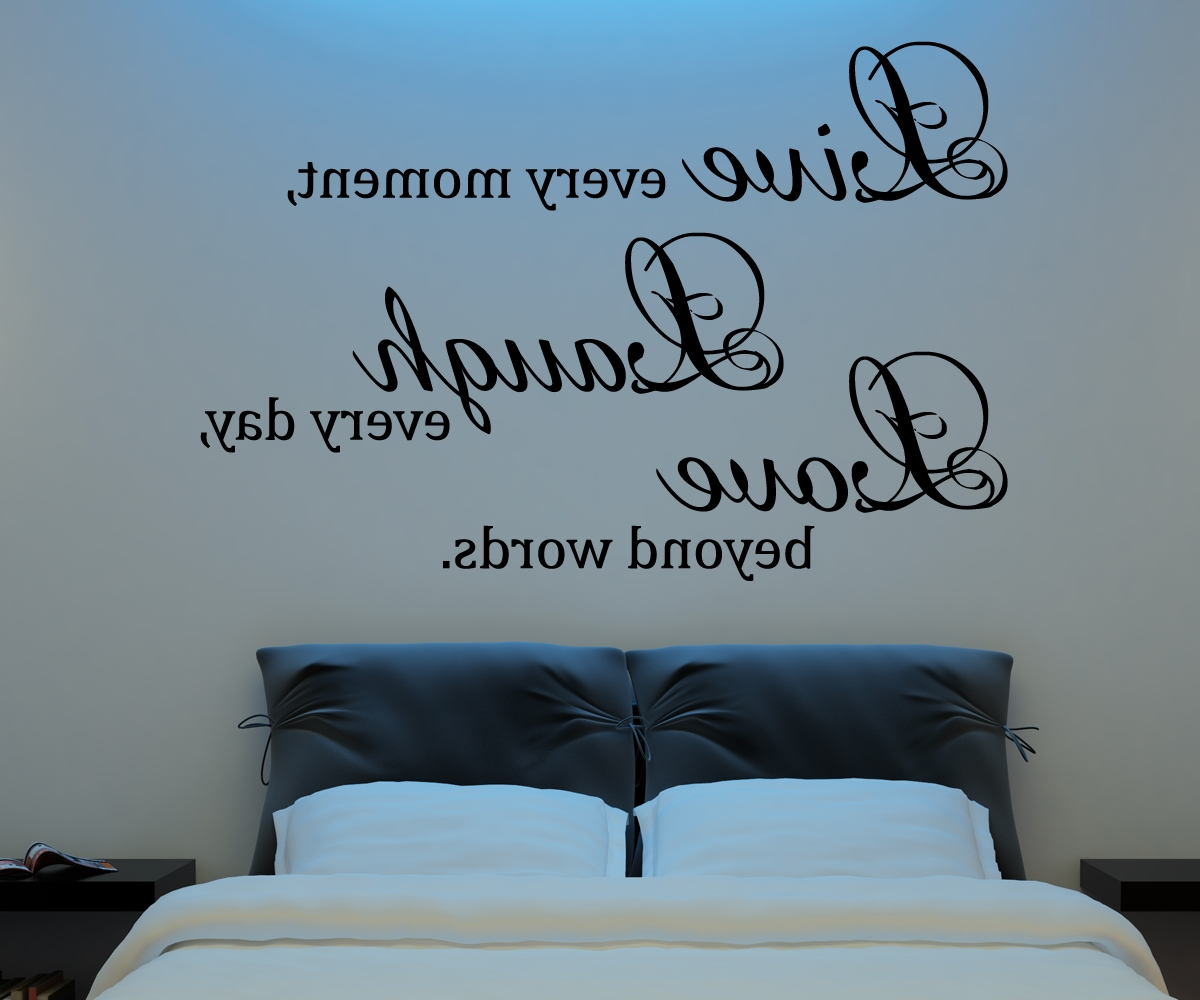 Most Current Live Laugh Love Wall Decal Vinyl Sticker Quote Art Living Room Inside Live Laugh Love Wall Art (View 10 of 15)