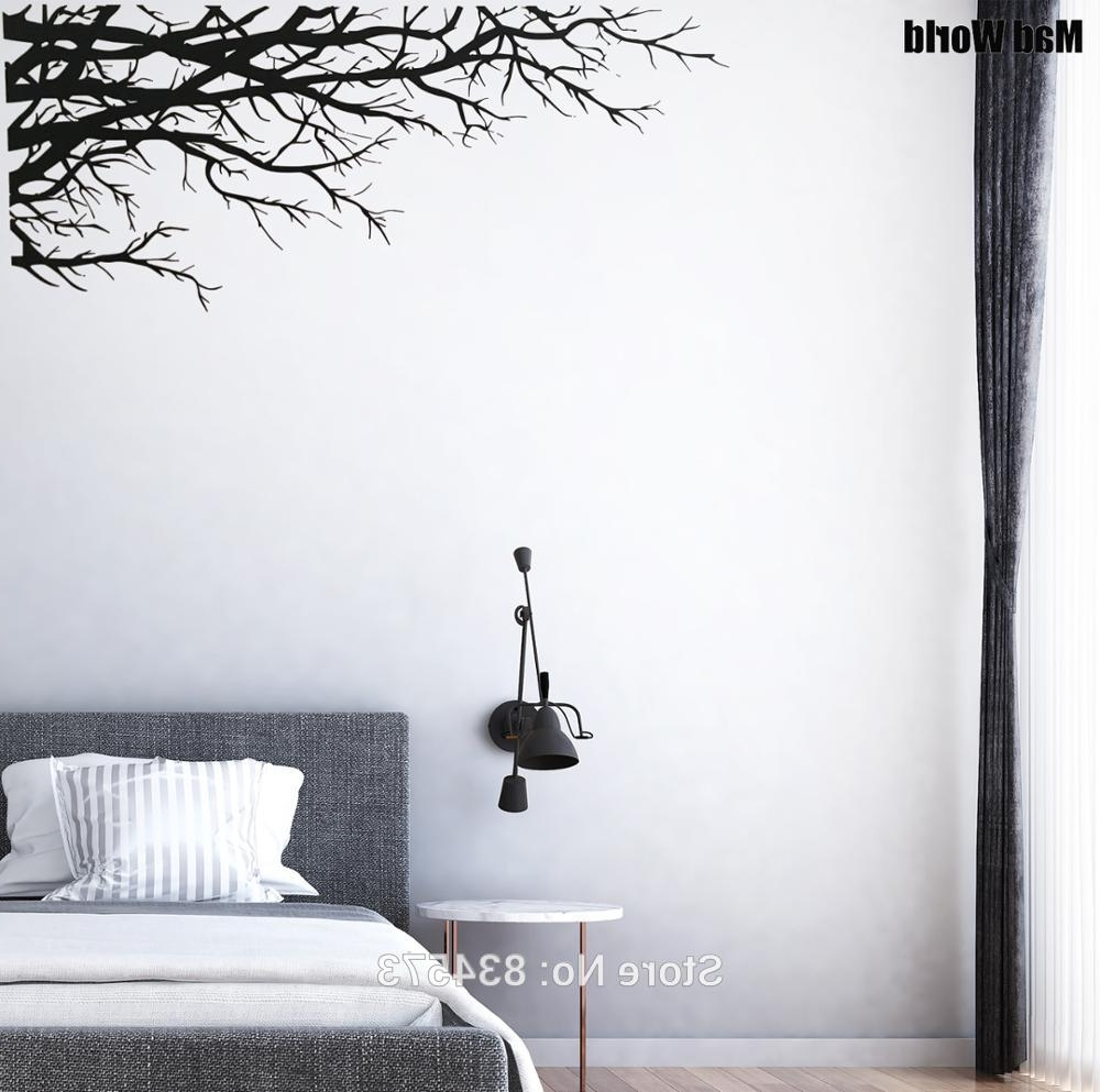 Most Current Mad World Tree Branch Elegant Nature Forest Corner Wall Art Sticker With Regard To Corner Wall Art (View 4 of 15)