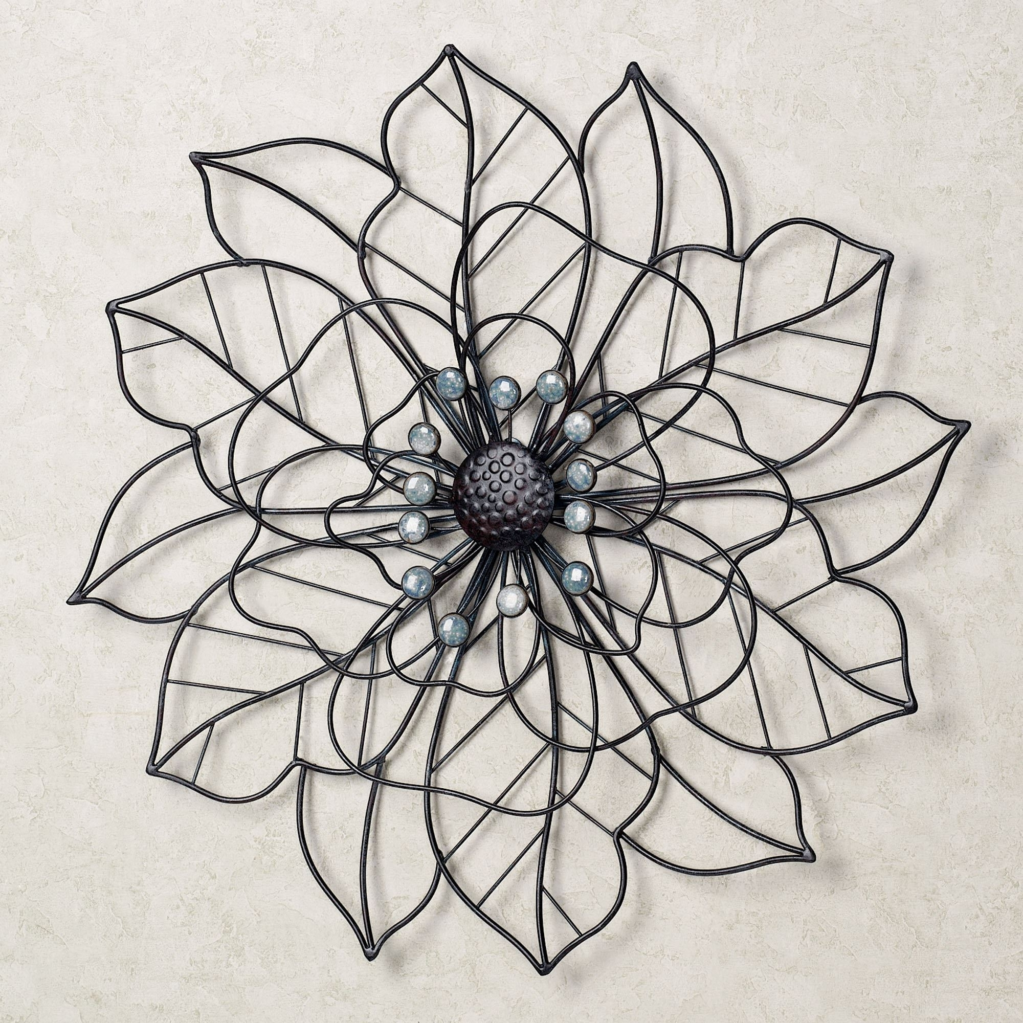 Most Current Metal Flower Wall Art Inside Stunning Metal Flower Wall Art – Wall Decoration Ideas (View 10 of 15)
