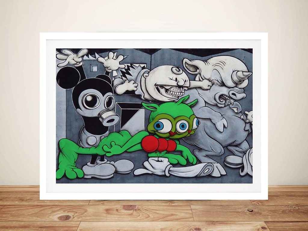 Most Current Mickey Mouse Canvas Wall Art Throughout Toxic Mickey Mouse Canvas Wall Art Sydney Australia (View 9 of 15)