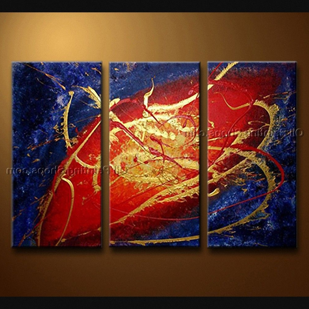 Most Current Modern Abstract Painting Wall Art Throughout Handmade Elegant Modern Abstract Painting Wall Art Sci Fi Oil On (View 9 of 15)