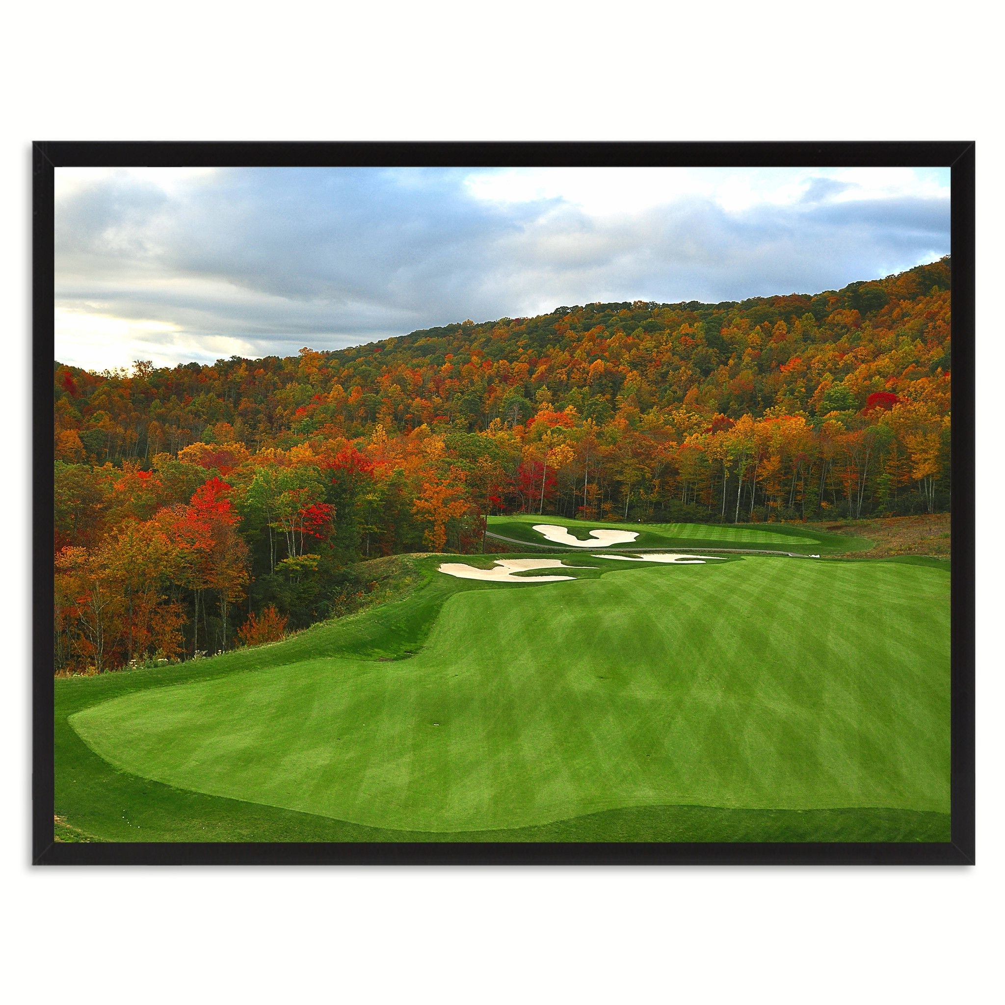 Most Current Nestled Golf Course Photo Canvas Print Pictures Frames Home Décor In Golf Canvas Wall Art (View 11 of 15)