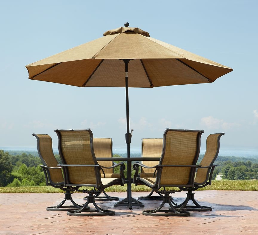 Most Current Patio Umbrellas With Table Inside Patio: Awesome Umbrella Patio Table Picnic Tables With Umbrella (View 7 of 15)