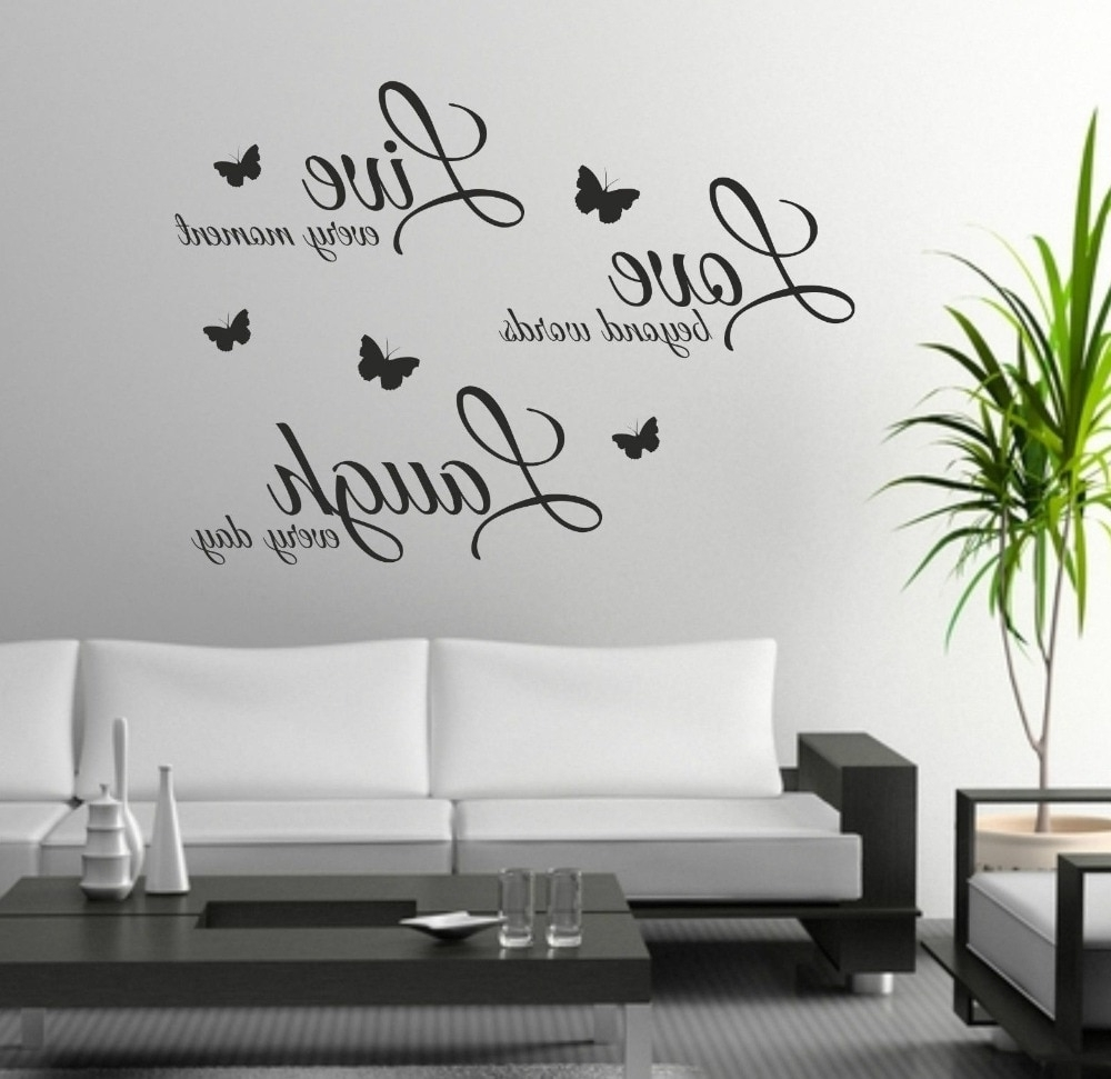 Most Current Quote Wall Art Regarding Foodymine Live Laugh Love Wall Art Sticker Quote Wall Decor Wall (View 6 of 15)