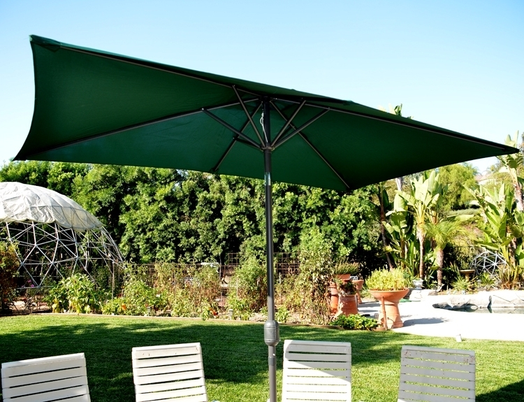 Most Current Rectangular Patio Umbrella Replacement Canopy Replacement Outdoor Pertaining To Rectangle Patio Umbrellas (View 7 of 15)