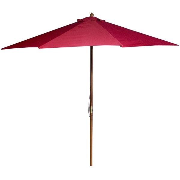 Most Current Shop Jordan Manufacturing 9 Foot Wooden Market Umbrella – Free Pertaining To Jordan Patio Umbrellas (View 10 of 15)