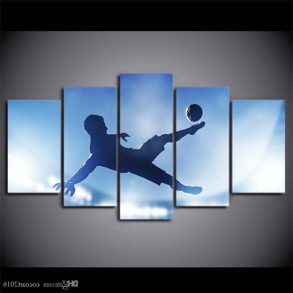 Most Current Soccer Wall Art Pertaining To 2018 Hd Printed Canvas Art Soccer Sports Large Canvas Wall Art (View 7 of 15)