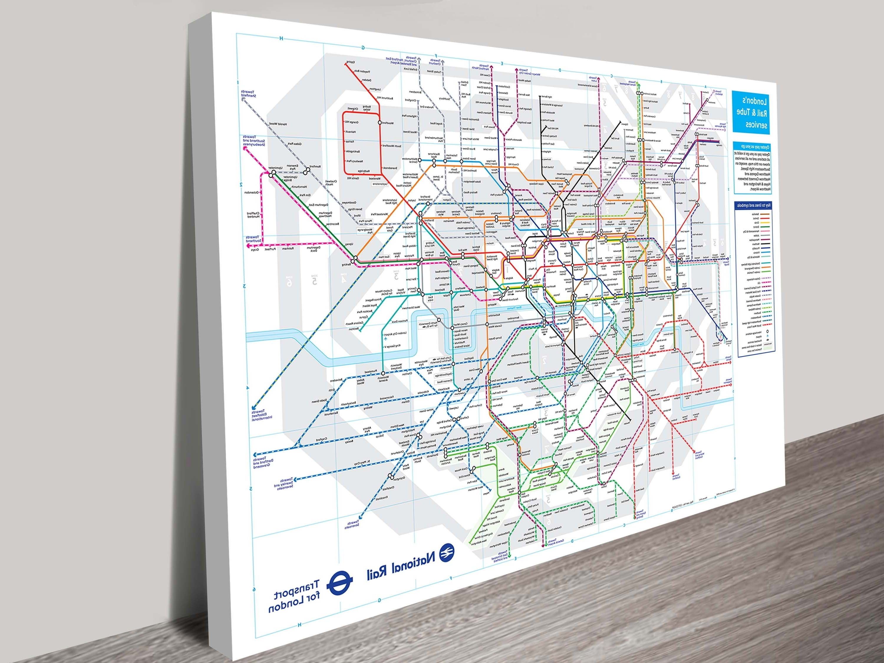 Featured Photo of Tube Map Wall Art