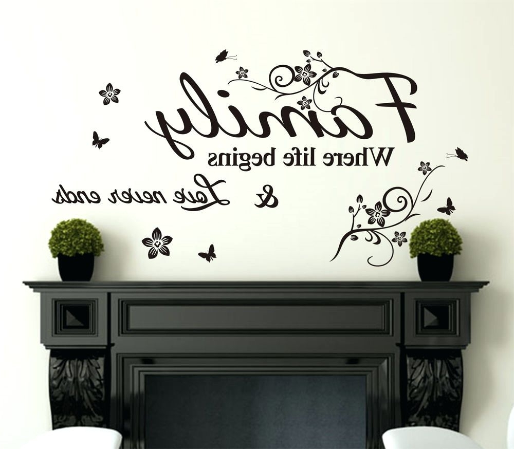 Most Current Wall Art Sayings Intended For Wall Decoration (View 12 of 15)