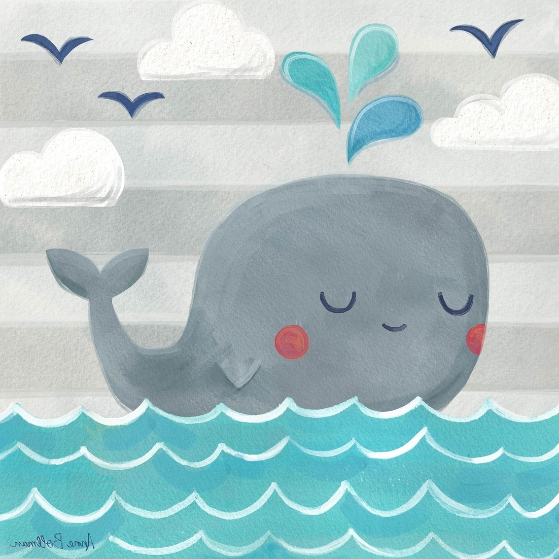 Most Current Whale Canvas Wall Art Inside Greenbox Art 10 X 10 Let's Set Sail Whale Canvas Wall Art (View 8 of 15)