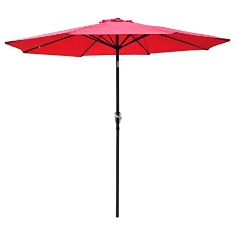 Most Current Yescom Patio Umbrellas Throughout Amazon : Yescom 9Feet Aluminum Outdoor Patio Umbrella W/ Crank (View 12 of 15)