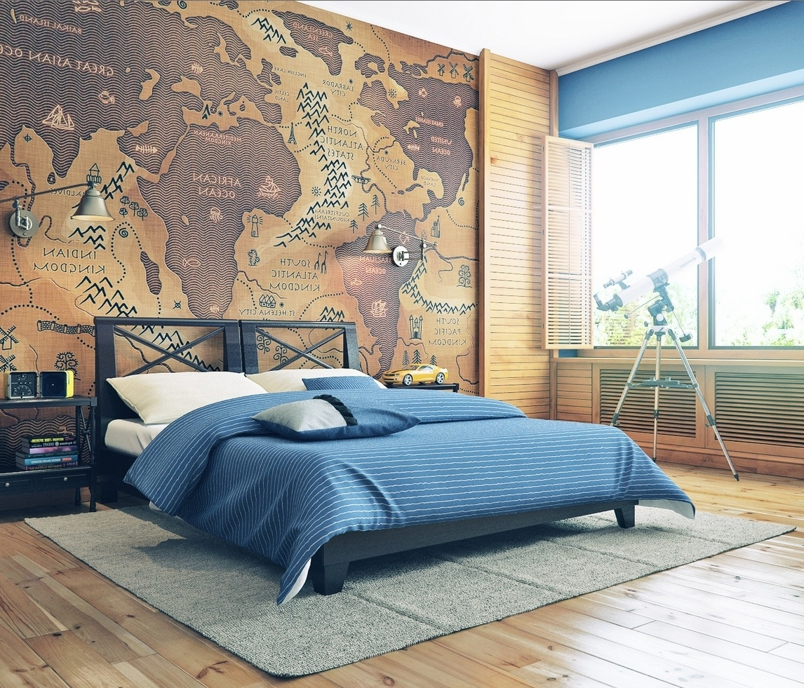 Most Popular 17 Cool Ideas For World Map Wall Art – Live Diy Ideas Within Cool Map Wall Art (View 7 of 15)