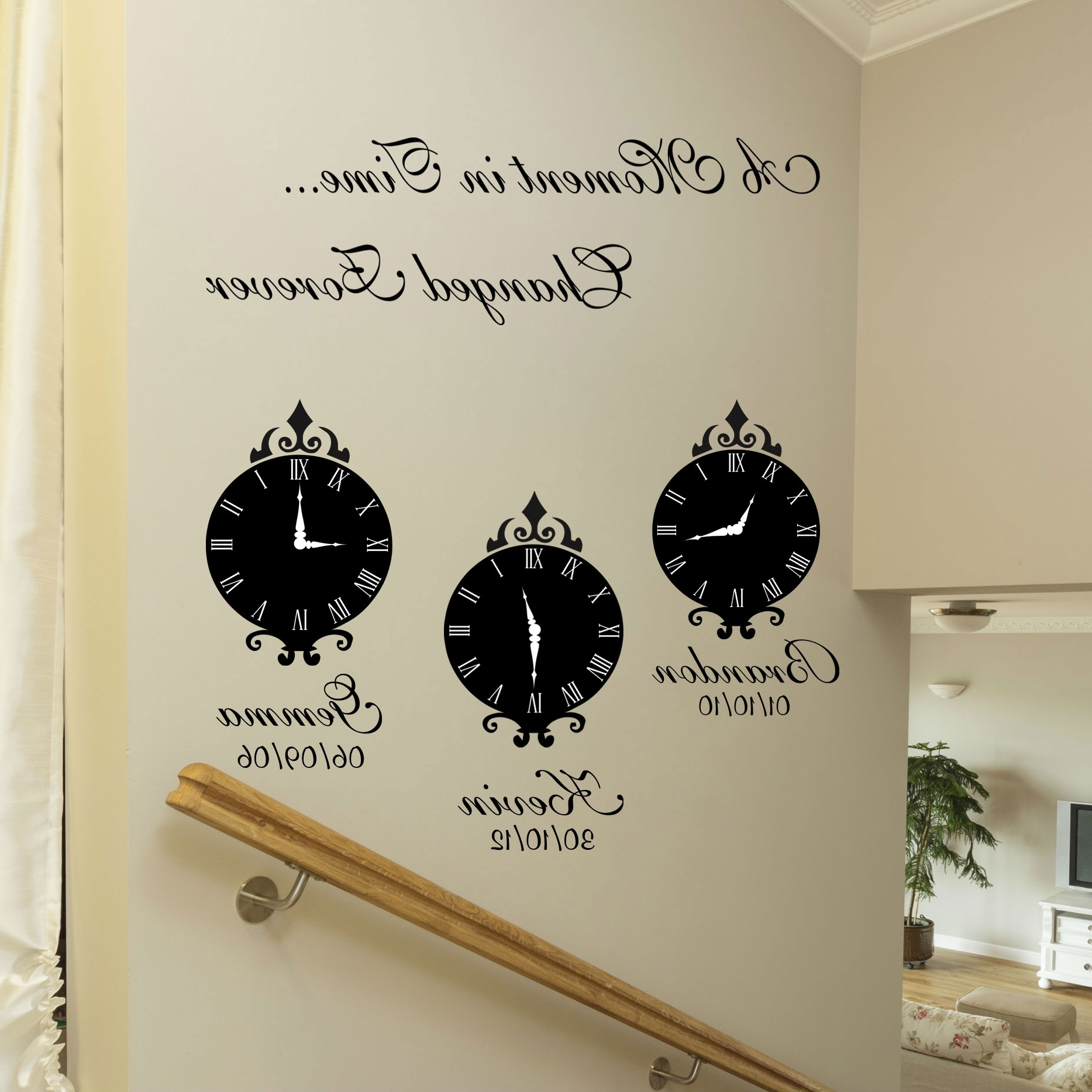 Most Popular A Moment In Time Wall Art Stickers Regarding Family Wall Art (View 8 of 15)