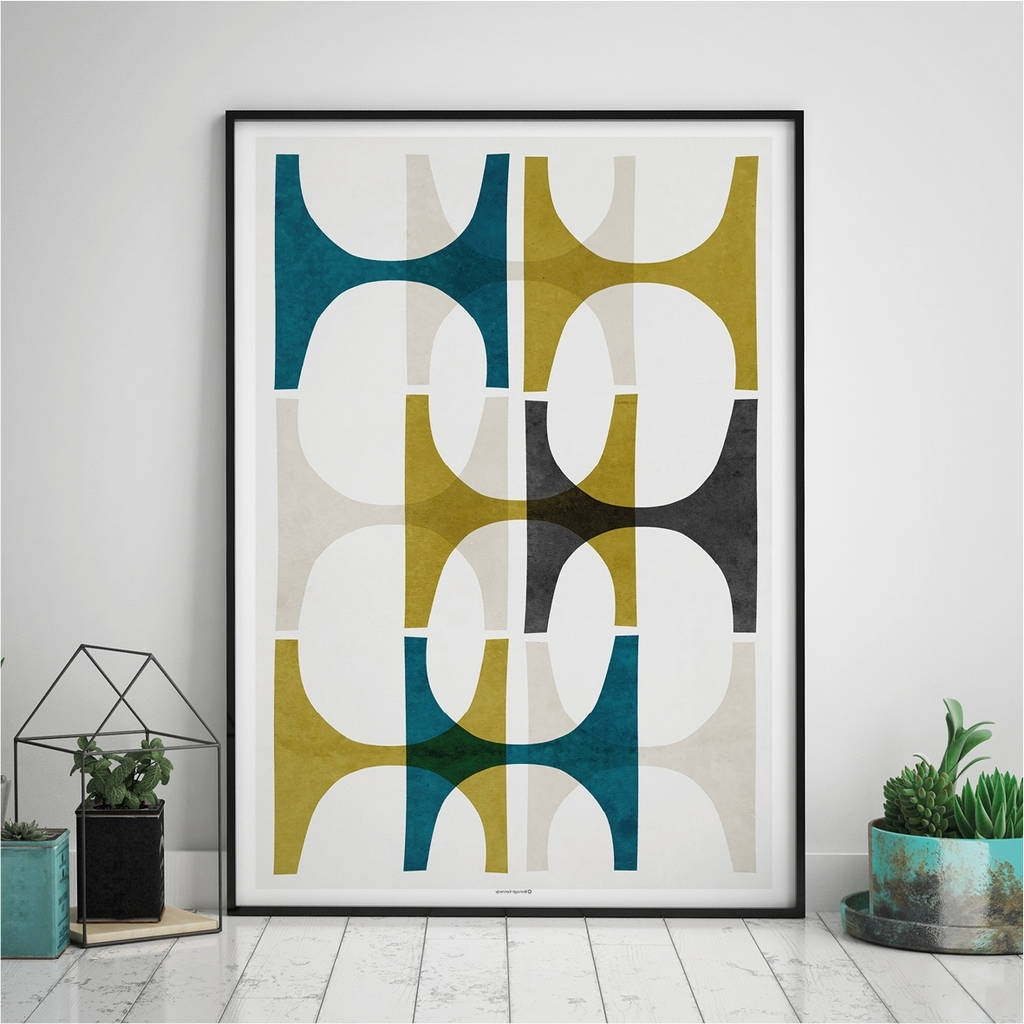 Most Popular Abstract Geometric Wall Art Printbronagh Kennedy – Art Prints With Geometric Wall Art (View 2 of 15)