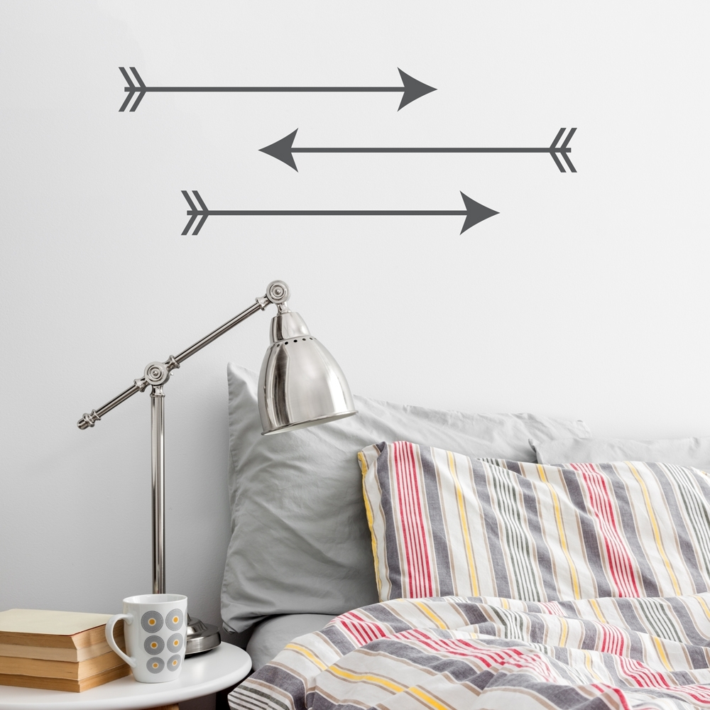Most Popular Arrow Trio Wall Art Decal With Regard To Arrow Wall Art (View 2 of 15)