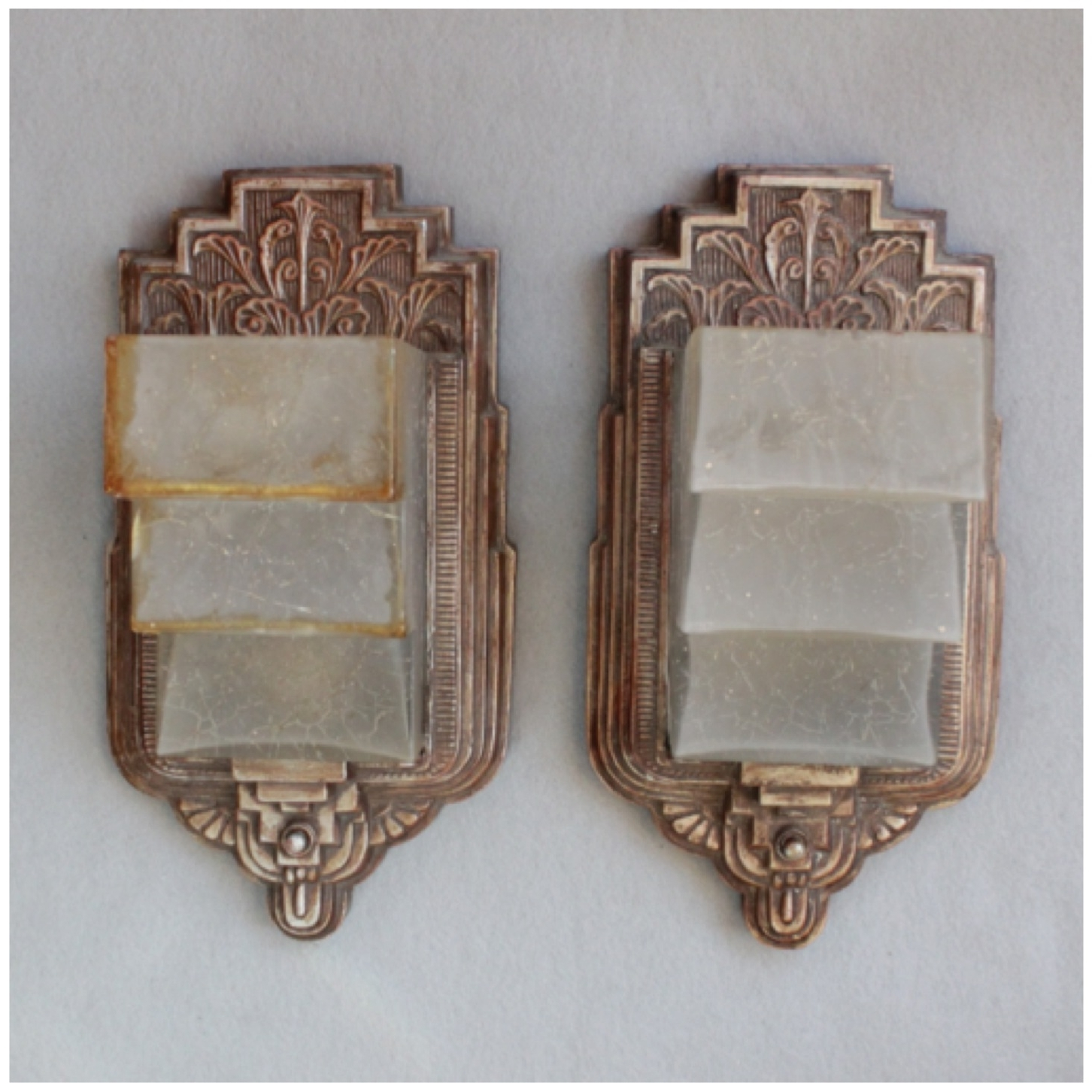 Most Popular Art Deco Wall Sconces With Diy155 Pair Art Deco Wall Sconces (View 7 of 15)