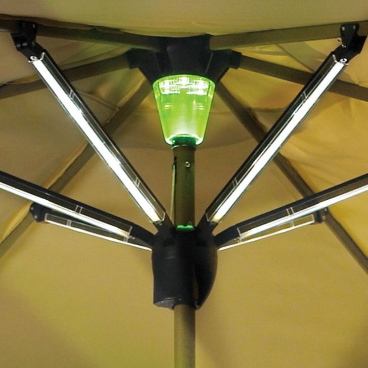 Most Popular Artistic Patio Umbrella Solar Lights #1 Outdoor Umbrella With Solar Inside Patio Umbrellas With Solar Lights (View 12 of 15)