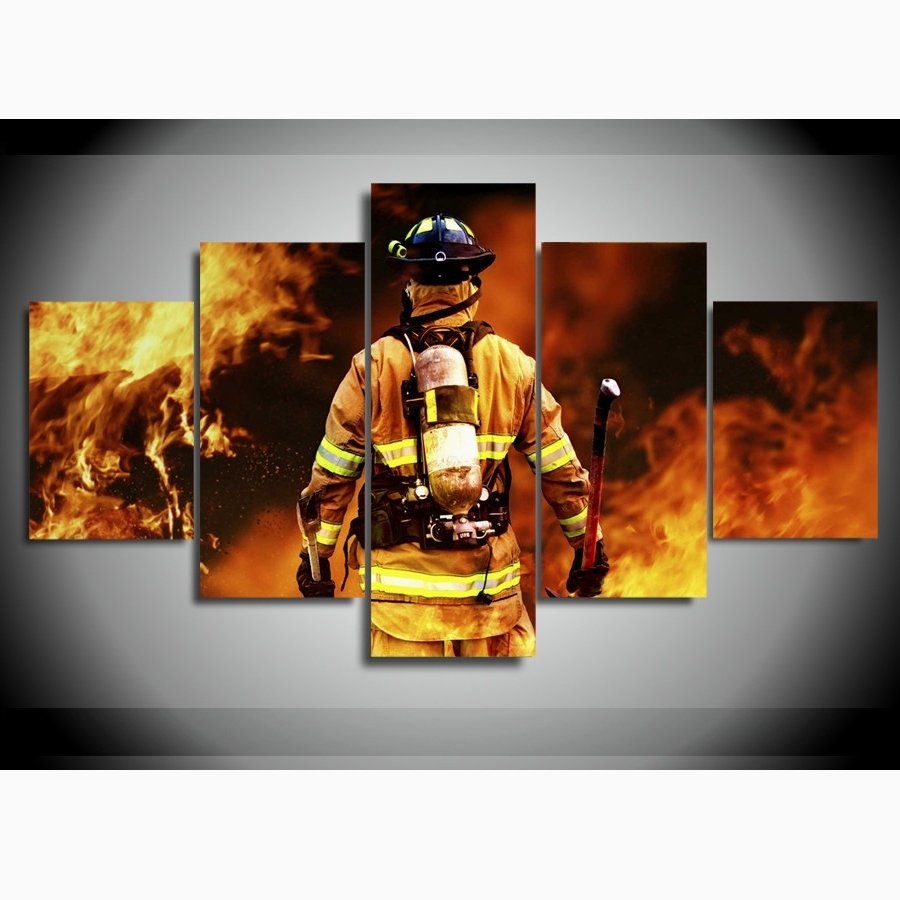Most Popular Beautiful Design Firefighter Wall Art – Ishlepark Inside Firefighter Wall Art (View 7 of 15)