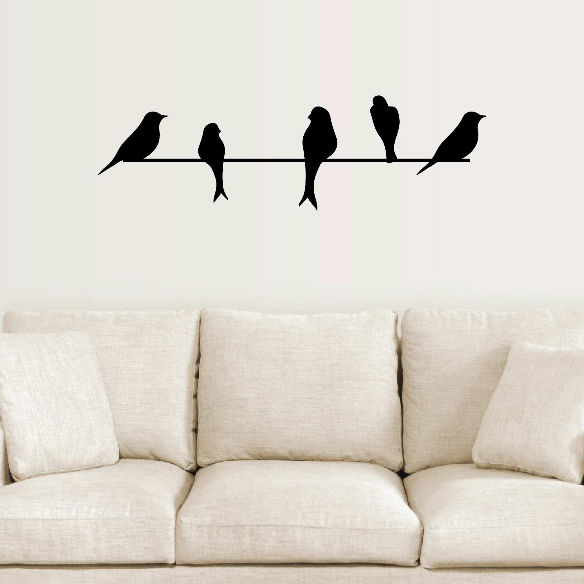 Most Popular Birds On A Wire Wall Art with regard to Birds On A Wire Wall Decor - Bsparker