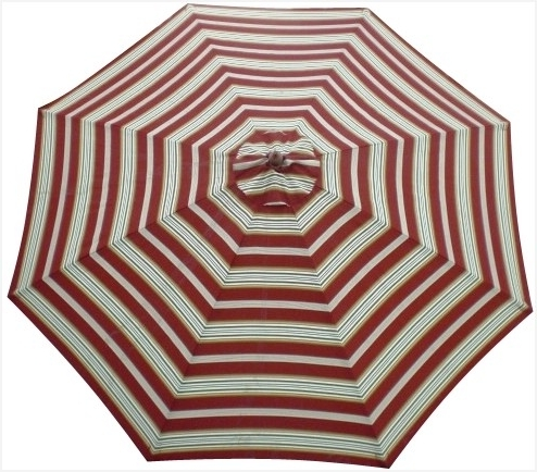 Most Popular Black And White Striped Patio Umbrella » Best Of Striped Patio With Regard To Striped Patio Umbrellas (View 2 of 15)