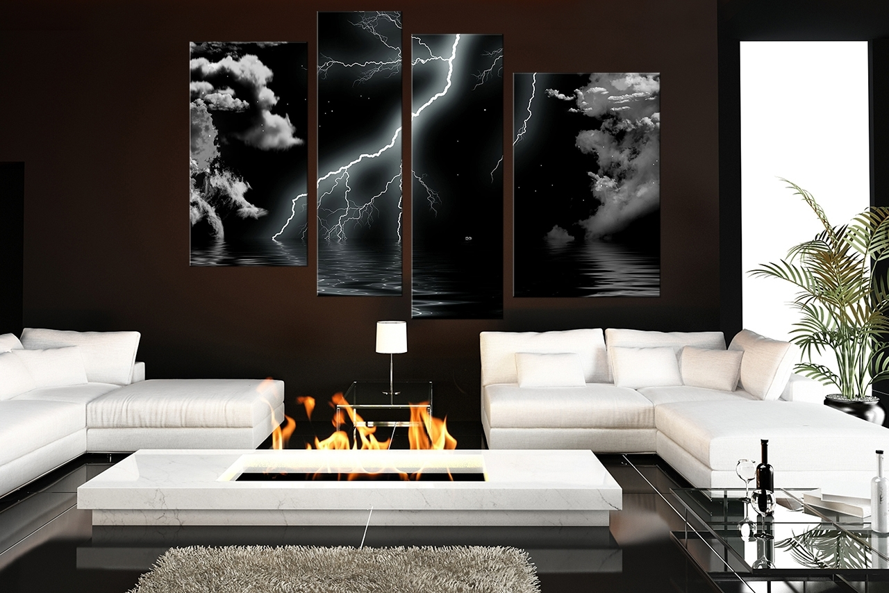 Most Popular Black And White Wall Art For Living Room Horses Lion (View 5 of 15)