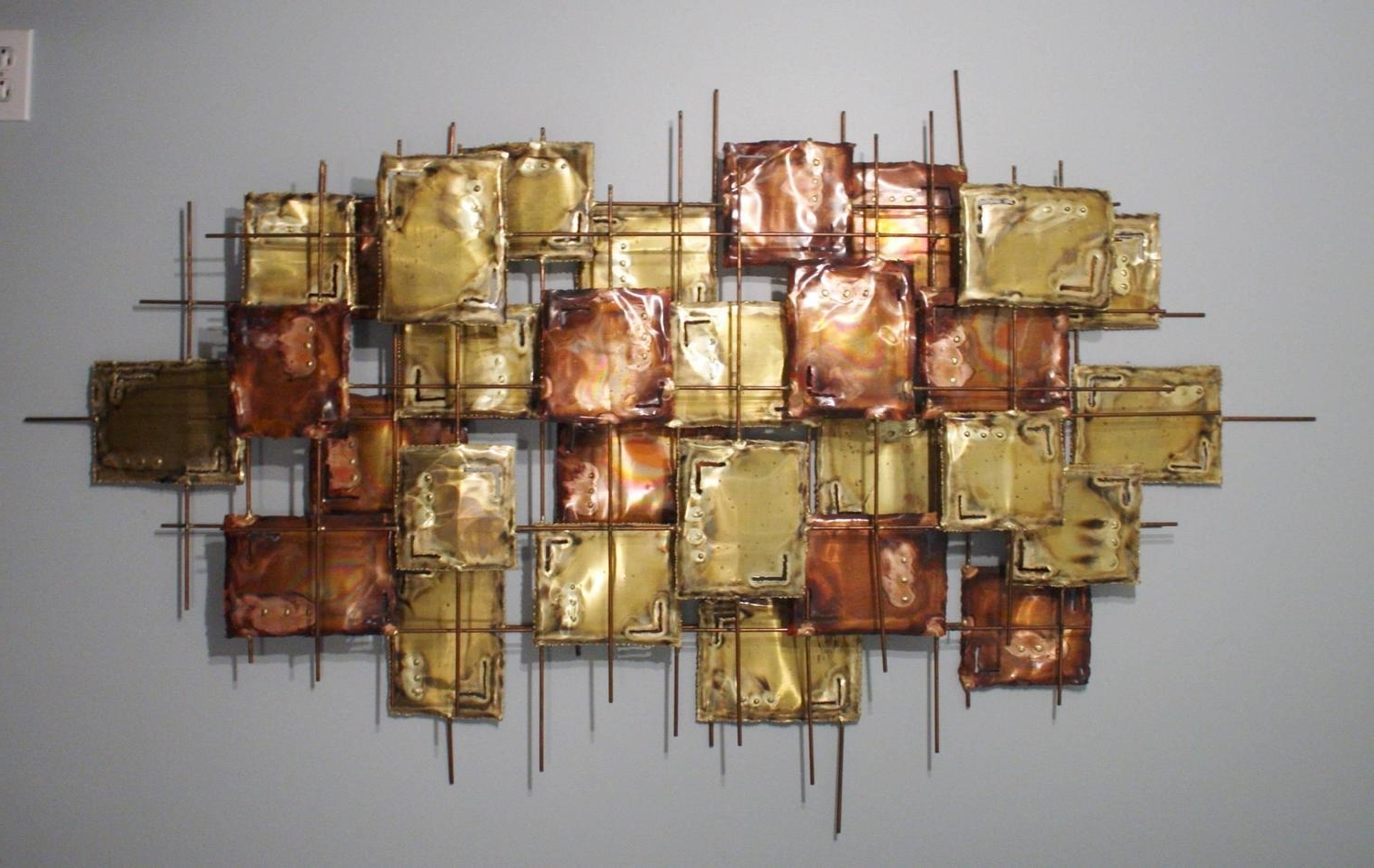 Most Popular Copper Wall Art For Large Brutalist Copper Wall Art, Signed At 1Stdibs (View 12 of 15)