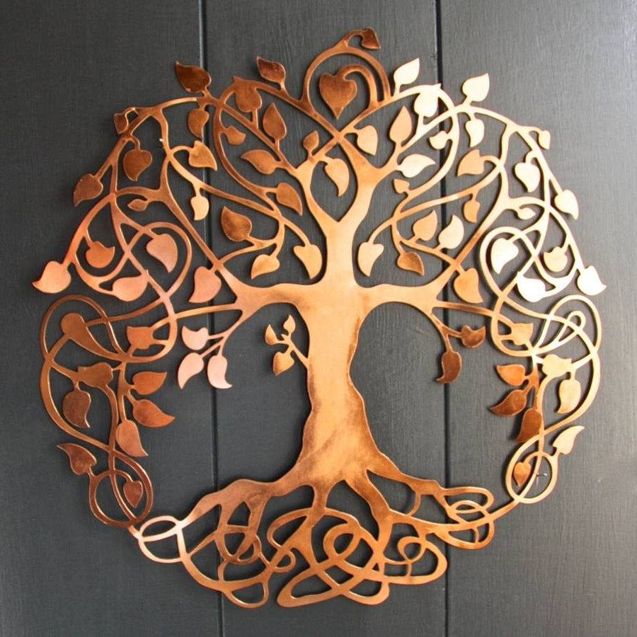 Most Popular Copper Wall Art Throughout Copper Tree Of Life Wall Artlondon Garden Trading (View 9 of 15)