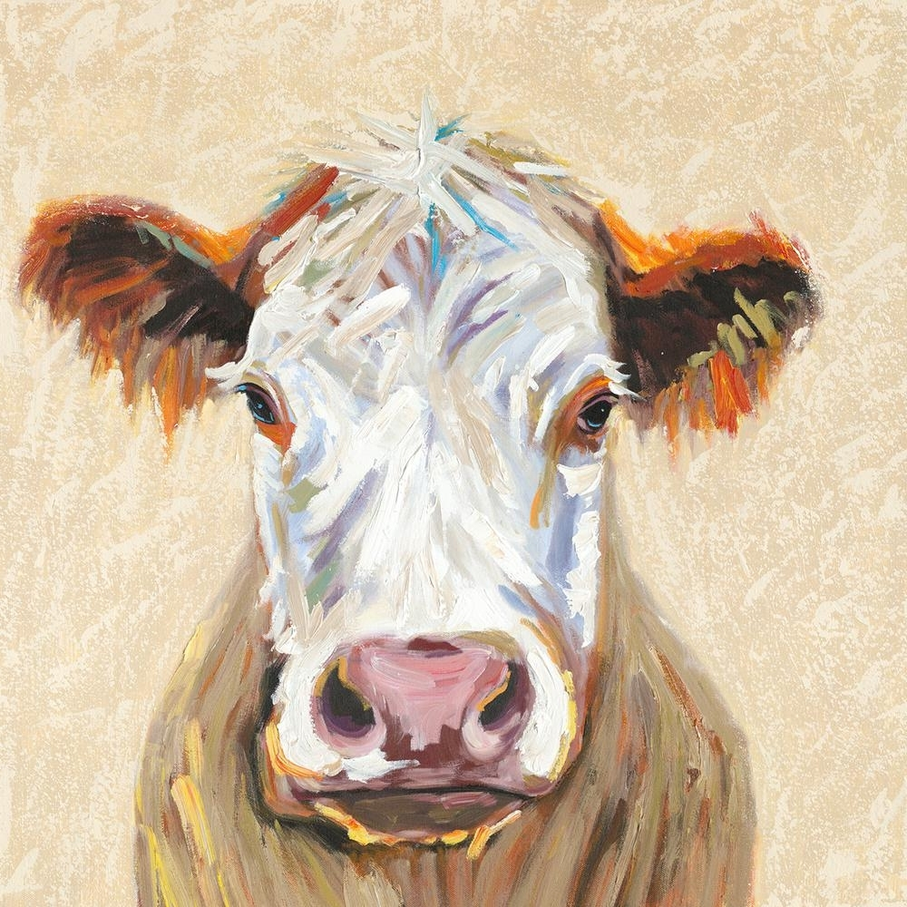 Most Popular Cow Canvas Wall Art Throughout Y Decor 36 In. X 36 In (View 4 of 15)