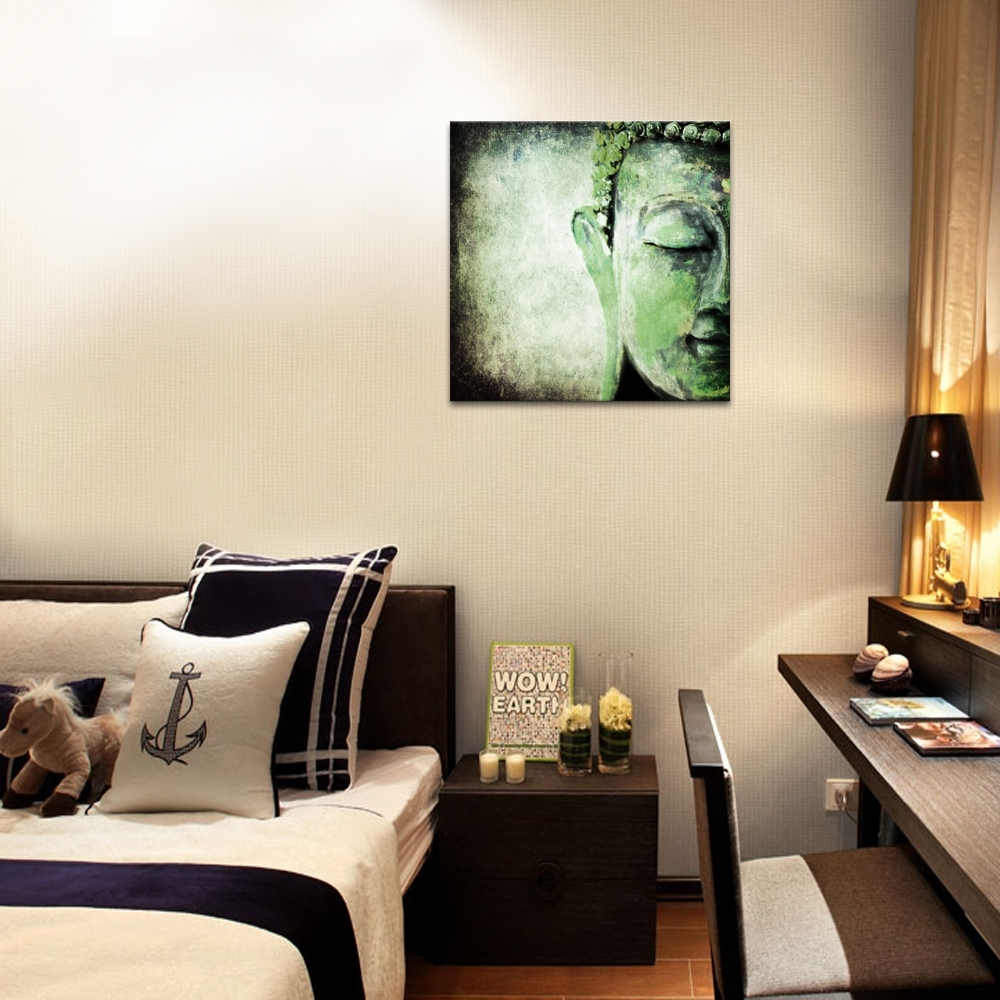 Most Popular Custom Wall Art Within 1 Panel Religious Painting Custom Canvas Art Print Hd Buddha Canvas (View 14 of 15)