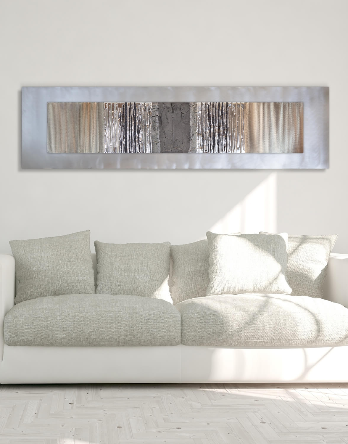 Most Popular Echo Oak Grey – Silver Wall Art, Contemporary Art Uk Inside Grey Wall Art (View 12 of 15)