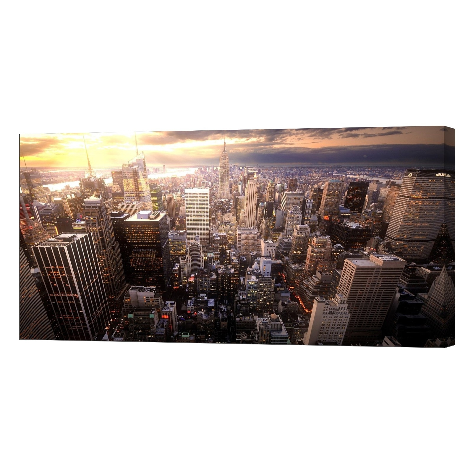 Most Popular Glow In The Dark Canvas Wall Art Print, New York Skyline – Lightfairy Throughout New York Canvas Wall Art (View 6 of 15)