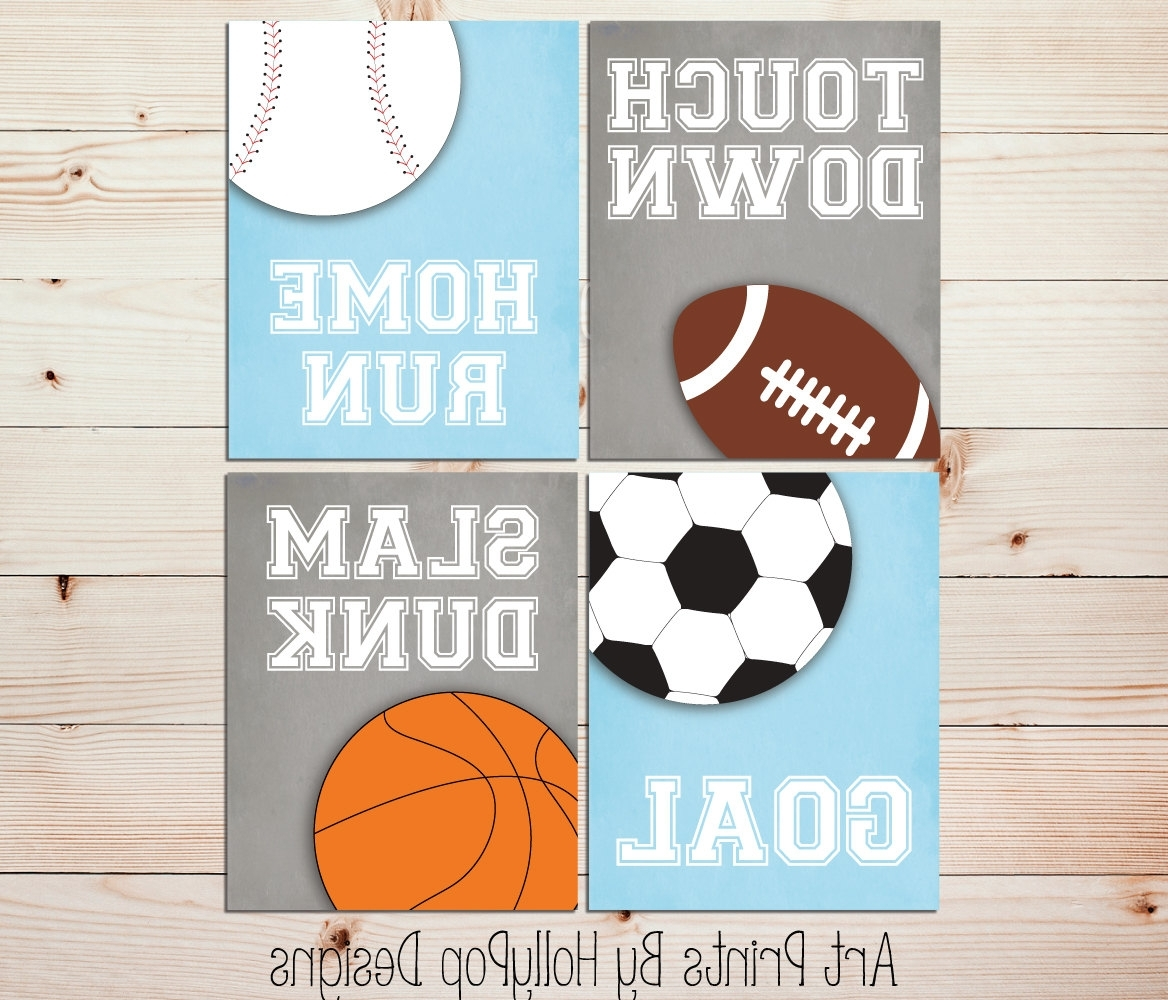 Most Popular Kids Room Decor Fabulous Sports Wall Decor – Wall Decoration Ideas With Sports Wall Art (View 14 of 15)