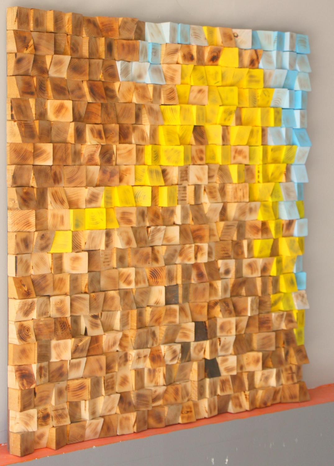 Most Popular Modern Wall Art For Buy Reclaimed Wood Wall Art, Wood Mosaic, Geometric Art, Wood Wall (View 10 of 15)