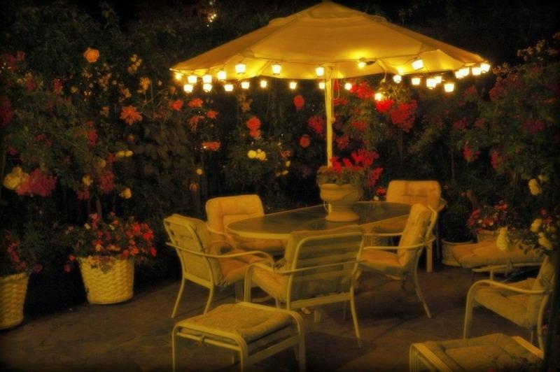 Most Popular Patio Umbrella With Lights – Darcylea Design Inside Patio Umbrellas With Lights (View 11 of 15)