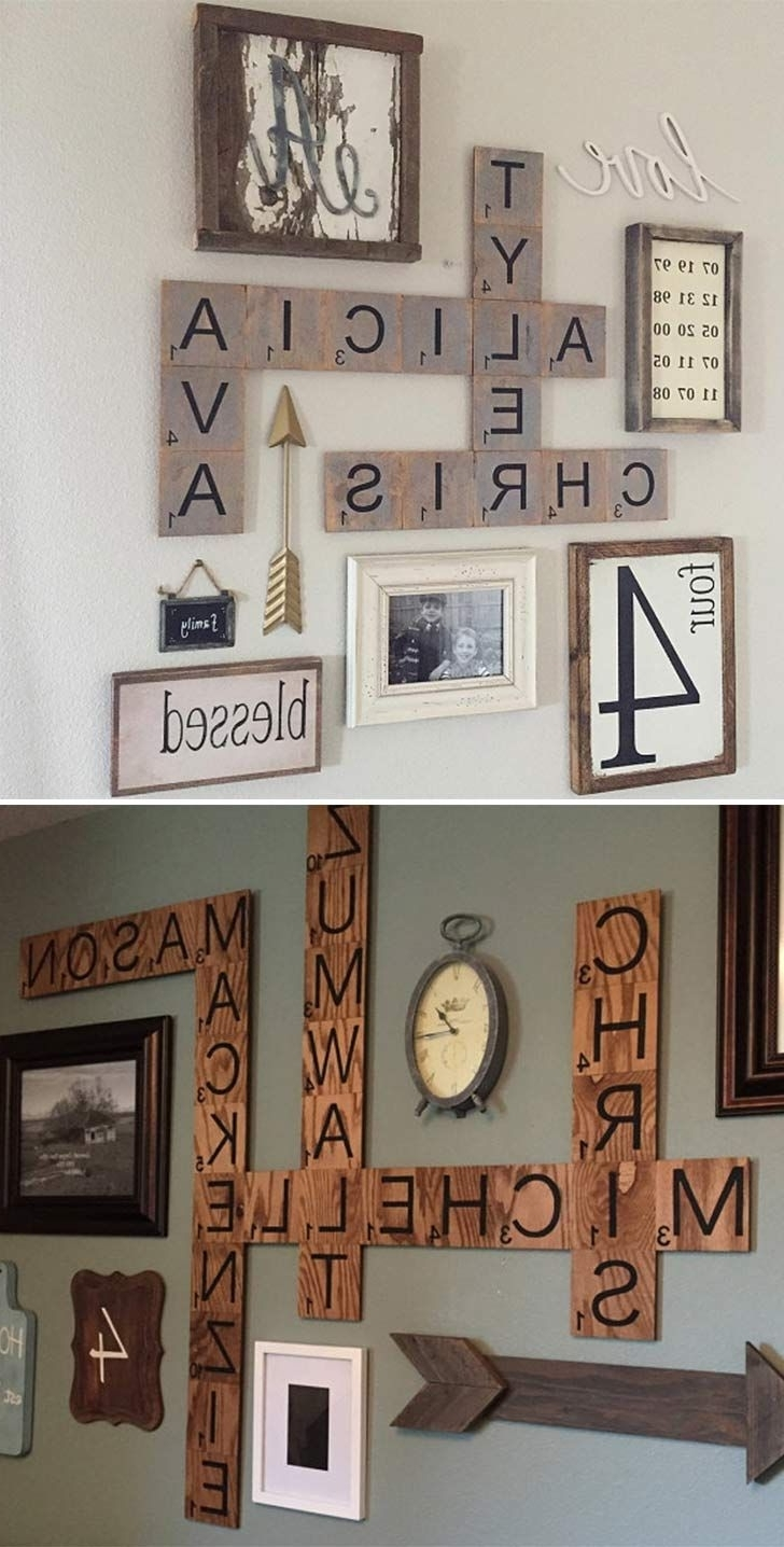 Most Popular Scrabble Wall Art Throughout 50 Home Decor Diy Crafts And Ideas You Can Easily Complete (View 10 of 15)