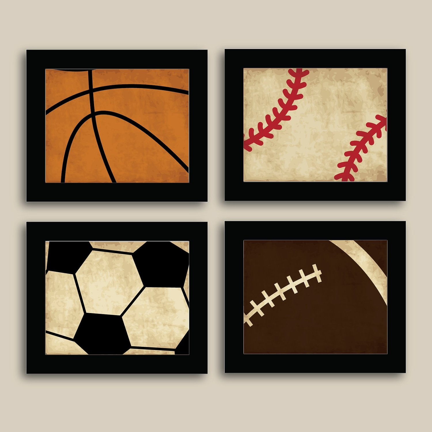 Most Popular Sports Wall Art Regarding Kids Sports Wall Art – Elitflat (View 8 of 15)